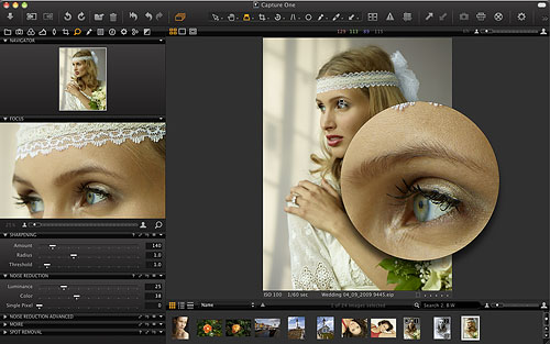 The Loupe tool in Capture One 6 allows zoom from 25 to 200% on a specific point in the image, for focus or detail confirmation. Screenshot provided by Phase One A/S. Click for a bigger picture!