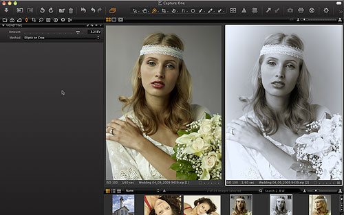 Creating an elliptic vignette in Capture One 6. Screenshot provided by Phase One A/S. Click for a bigger picture!