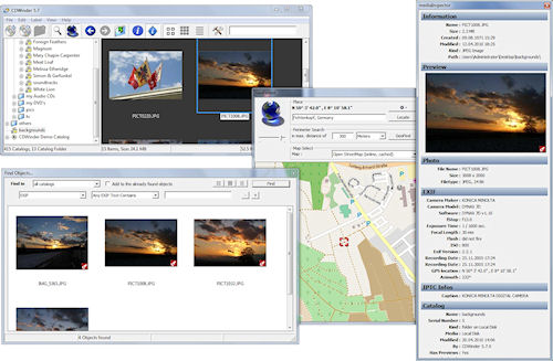 CDWinder 5.7 includes support for geotagging. Screenshot provided by CDWinder / Andreas Becherer. Click for a bigger picture!