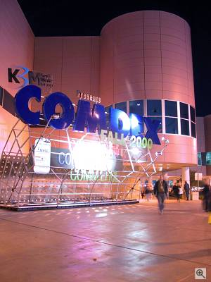The Comdex Fall 2000 logo outside the Las Vegas Convention Center... Copyright (c) 2000, Michael R. Tomkins, all rights reserved. Click for a bigger picture!