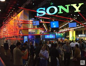 Sony's booth. Copyright © 2001, Michael R. Tomkins. All rights reserved. Click for a bigger picture!