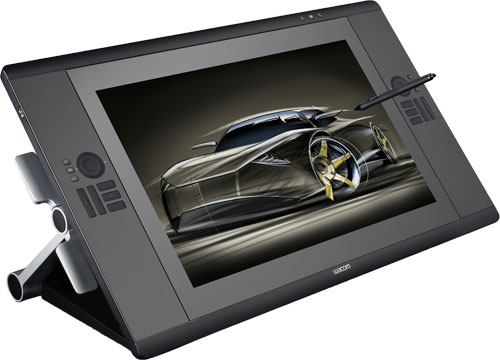 Wacom's Cintiq 24HD interactive pen display. Image provided by Wacom Technology Services Corp. Click for a bigger picture!