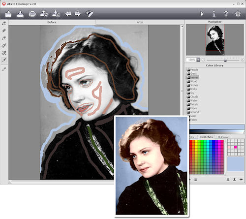 Another demonstration of Akvis' Coloriage v7.0. Image provided by AKVIS Software Inc. Click for a bigger picture!