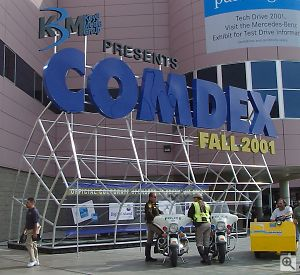 Comdex Fall 2001 Show sign. Copyright © 2001, Michael R. Tomkins. All rights reserved. Click for a bigger picture!