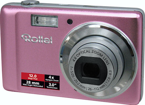 Rollei's Compactline 370 TS digital camera. Photo provided by Rollei GmbH. Click for a bigger picture!