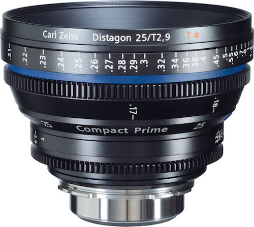 Compact Prime CP.2 25mm lens. Photo provided by Carl Zeiss AG. Click for a bigger picture!