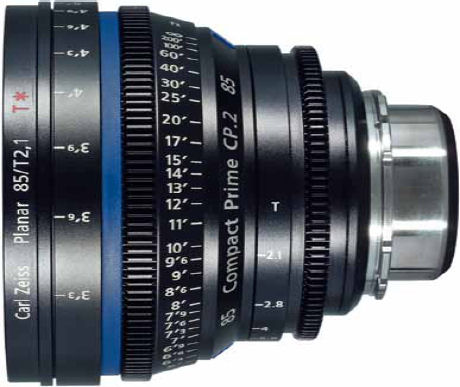 Compact Prime CP.2 85mm lens. Photo provided by Carl Zeiss AG.