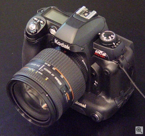 Kodak's DCS Pro 14n digital camera. Copyright © 2002, The Imaging Resource. All rights reserved.