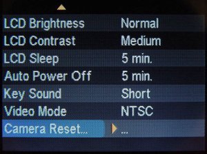 A screenshot of the Sigma SD9's LCD display. Photo copyright © 2002, The Imaging Resource. All rights reserved.