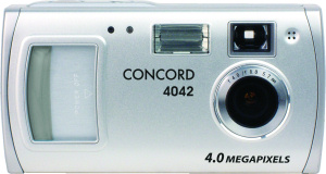 Concord's 4042 digital camera. Courtesy of Concord, with modifications by Michael R. Tomkins. Click for a bigger picture!