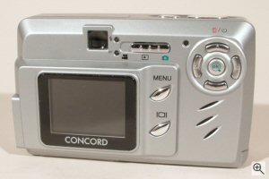 Concord's Eye-Q 4360z digital camera. Courtesy of Concord Camera Corp., with modifications by Michael R. Tomkins. Click for a bigger picture!