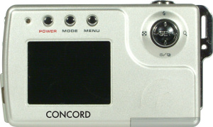 Concord's 5040 digital camera. Courtesy of Concord, with modifications by Michael R. Tomkins. Click for a bigger picture!