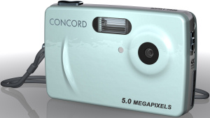 Concord's 5042 digital camera. Courtesy of Concord, with modifications by Michael R. Tomkins. Click for a bigger picture!