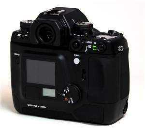 Contax's N Digital SLR Rear View - click for a bigger picture!