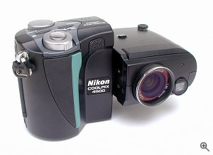 Nikon's Coolpix 4500 digital camera. Copyright © 2002, The Imaging Resource. All rights reserved.