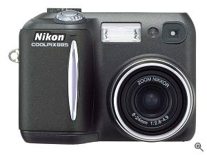 Nikon's Coolpix 885 digital camera. Courtesy of Nikon, and thanks to Phil Askey/DPReview for providing us with this image. Click for a bigger picture!