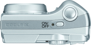 Nikon's Coolpix 7600 digital camera. Courtesy of Nikon, with modifications by Michael R. Tomkins. Click for a bigger picture!