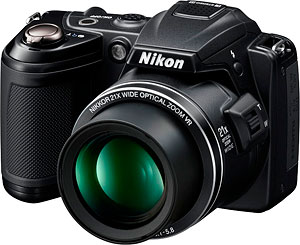 Nikon's Coolpix L120 digital camera. Photo provided by Nikon Inc. Click for a bigger picture!