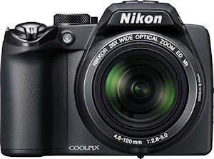 Nikon's Coolpix P100 digital camera. Photo provided by Nikon Inc. Click for a bigger picture!