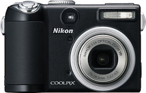 Nikon's Coolpix P5000 digital camera. Courtesy of Nikon, with modifications by Michael R. Tomkins.