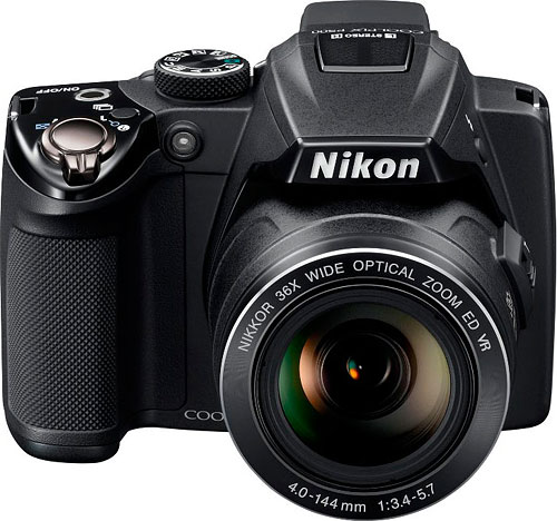 Nikon's Coolpix P500 digital camera. Photo provided by Nikon Inc. Click for a bigger picture!