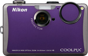 Nikon's Coolpix S1100pj digital camera. Photo provided by Nikon Inc. Click for a bigger picture!