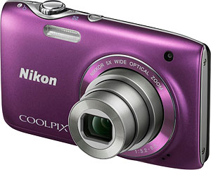 Nikon's Coolpix S3100 digital camera. Photo provided by Nikon Inc. Click for a bigger picture!