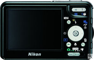 Nikon's Coolpix S3 digital camera. Courtesy of Nikon, with modifications by Michael R. Tomkins. Click for a bigger picture!