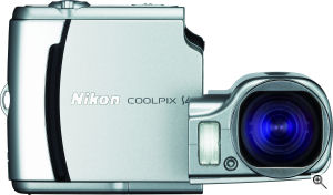 Nikon's Coolpix S4 digital camera. Courtesy of Nikon, with modifications by Michael R. Tomkins. Click for a bigger picture!