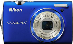 Nikon's Coolpix S5100 digital camera. Photo provided by Nikon Inc. Click for a bigger picture!