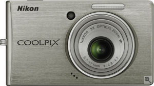 Nikon's Coolpix S510 digital camera. Courtesy of Nikon, with modifications by Michael R. Tomkins. Click for a bigger picture!