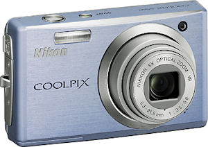 Nikon's Coolpix S560 digital camera. Courtesy of Nikon, with modifications by Michael R. Tomkins.