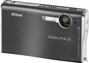 Nikon's Coolpix S7c digital camera. Courtesy of Nikon, with modifications by Michael R. Tomkins. Click for a bigger picture!