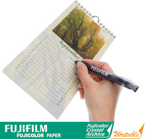 Fujifilm's Crystal Archive Writable photo paper. Courtesy of Fujifilm, with modifications by Michael R. Tomkins.Click for a bigger picture!