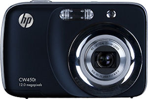Hewlett Packard's CW450t digital camera. Photo provided by Hewlett Packard Development Company L.P. Click for a bigger picture!