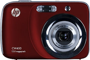 Hewlett Packard's CW450 digital camera. Photo provided by Hewlett Packard Development Company L.P. Click for a bigger picture!