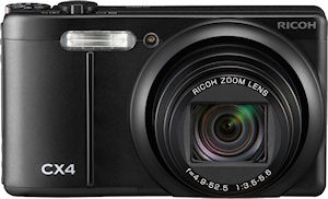 Ricoh's CX4 digital camera. Photo provided by Ricoh Co. Ltd. Click for a bigger picture!