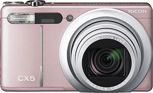 Ricoh's CX5 digital camera. Photo provided by Ricoh Co. Ltd. Click for a bigger picture!
