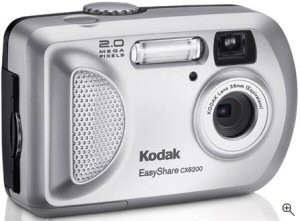 Kodak's EasyShare CX6200 digital camera. Courtesy of Kodak, with modifications by Michael R. Tomkins. Click for a bigger picture!