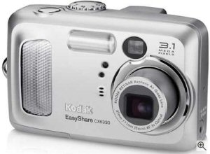 Kodak's EasyShare CX6330 digital camera. Courtesy of Kodak, with modifications by Michael R. Tomkins. Click for a bigger picture!