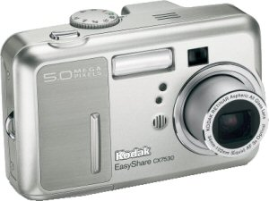 Kodak's EasyShare CX7530 digital camera. Courtesy of Eastman Kodak Co., with modifications by Michael R. Tomkins.