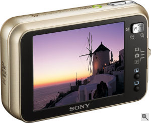 Sony's Cyber-shot DSC-N2 digital camera. Courtesy of Sony, with modifications by Michael R. Tomkins. Click for a bigger picture!