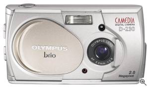Olympus' Camedia D-230 digital camera. Courtesy of Olympus. Click for a bigger picture!