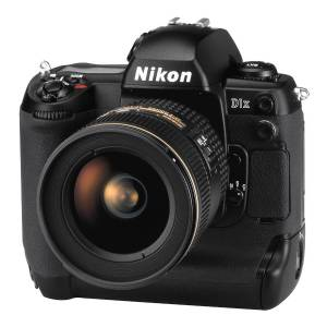 Nikon's D1X digital camera, front left quarter view.
