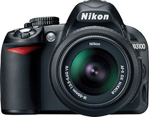 Nikon's D3100 digital SLR. Photo provided by Nikon Inc. Click for a bigger picture!