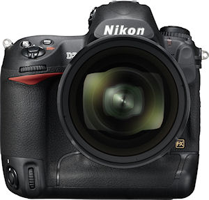 Nikon's D3S digital SLR. Photo provided by Nikon Inc. Click for a bigger picture!