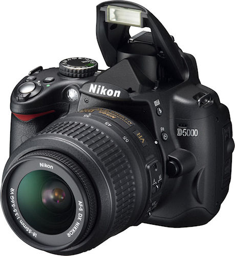 Nikon's D5000 single-lens reflex digital camera. Photo provided by Nikon Corp. Click for a bigger picture!