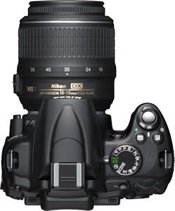 Nikon's D5000 single-lens reflex digital camera. Photo provided by Nikon Inc. Click for a bigger picture!