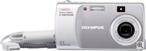 Olympus' Camedia D-540 Zoom digital camera. Courtesy of Olympus, with modifications by Michael R. Tomkins. Click for a bigger picture!