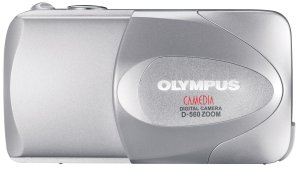 Olympus' D-560 digital camera. Courtesy of Olympus, with modifications by Michael R. Tomkins. Click for a bigger picture!